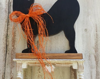 Wooden Halloween Cat