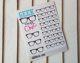 Geek Is The New Chic Nerd Glasses Stickers