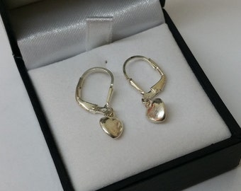 Earrings Silver 925 children earrings heart KO101