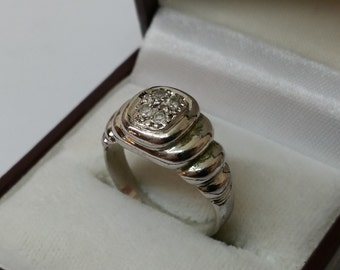 925 Silver ring with Crystal stones 17.6 mm / size 7.2 SR481
