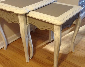 SOLD: Pair of French Provincial Nesting Tables