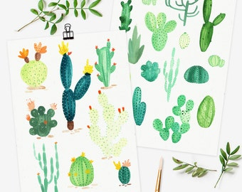 Cactus Variety Postcard Prints- Set of 2