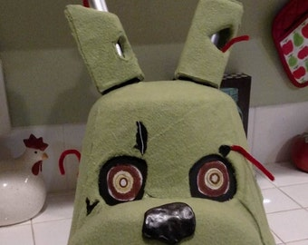 Springtrap, Five Nights at Freddy's Costume Mask.  Movable jaw!! FNAF!!