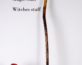 Walking/hiking stick, trekking pole, magick staff, witches staff, hand made one of a kind.
