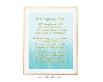photograph relating to Walk With Me Daddy Poem Printable named Wander with me papa poem
