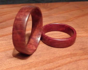 Wooden Wedding Ring Set,Redwood Band Rings,Handcrafted Wooden Ring Pair,Redwood Root Burl,Redwood Rings,Organic Wood Rings,Wedding Ring Set
