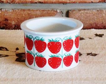 Arabia Finland Pomona Strawberry sugar jam jelly pot no lid 1960s