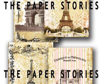 PARIS BACKGROUND, Commercial Use, Digital, Scrapbook, Printable, Instant Download, jpeg, Vintage, Shabby Chic, Collage Sheet, Retro, Antique