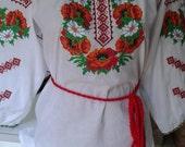 Ukrainian embroidered blouse Women's blouse with embroidery Ukrainian embroideryTraditional clothes Clothes for women Women's blouse