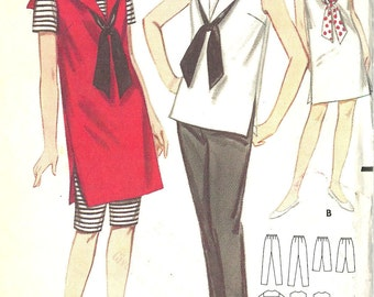 Butterick vintage 1960s sewing pattern 3529 sailor middy dress and outfit - Size 14