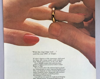 1967 parke davis print ad with this ring i thee wed until the year 2017 - With This Ring I Thee Wed