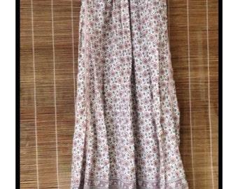 Vintage 60's 70's Hippie Boho India Block Print Festival Dress Mint Condition *RARE*