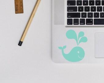 Cute Whale Sticker / Vinyl Decal / Laptop Decal / Car Decal