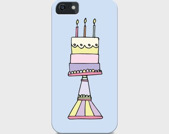 Hand-drawn Cake iPhone Case (5c, 5s, 6 and 6 plus available) Gift for Her