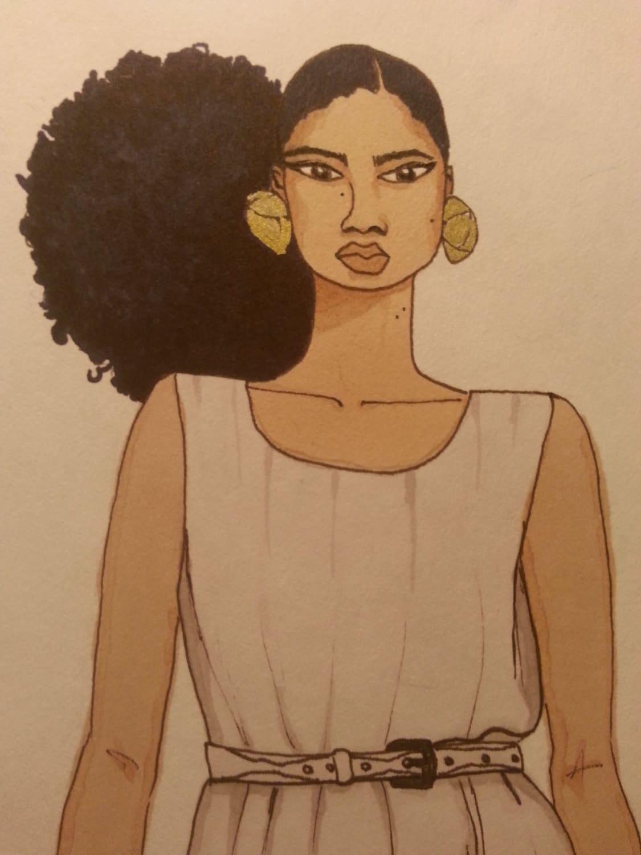 that bun tho original black art natural hair afro dip dye. Black Bedroom Furniture Sets. Home Design Ideas
