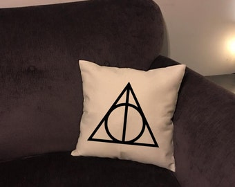 Harry Potter inspired deathly hallows pillow case