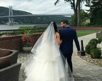 Horsehair veil, horsehair trim veil, wedding veil, ivory veil, fingertip veil, cathedral veil, chapel veil, hip veil, Bridal veil, trim veil