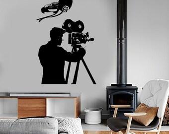 Wall Vinyl Decal Art Cameraman Actor Actress Amazing Film Decor 1361dz