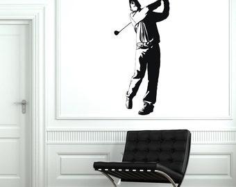 Wall Vinyl Decal Golf Golfer Sport Cool Guaranteed Quality Decor 2080di
