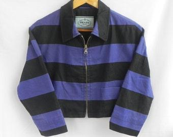 90s//Prada Milano//Italian Luxury//Punk Striped Jacket Blazer//Pop Culture//Size 38//Made In Italy chanel gucci hermes