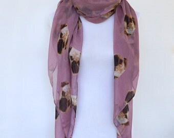 Pink Scarf, Womens Scarves, Spring Scarf, Animal Print Scarf, Fashion scarf, Boho Scarf Shawl, Women's Scarf, Mothers Day Gift