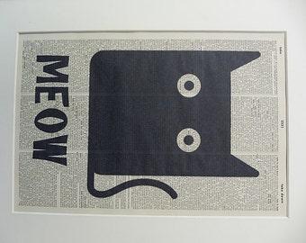 Cat Print No.355, black cat, cat poster, funny cat, cat art print, cat wall decor, cat wall art, cat, funny cat gift, crazy cat lady
