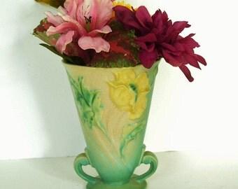 Roseville Poppy Vase - 866-6