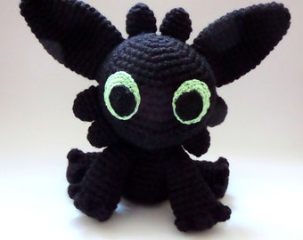 Toothless - How To Train Your Dragon - Night Fury, Plush