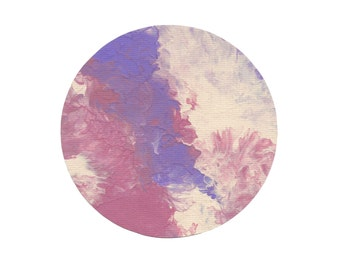 Marbled Paint Circle Print