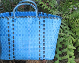 Plasticbag Big Recyclingmaterial Blue Black Big Shopper