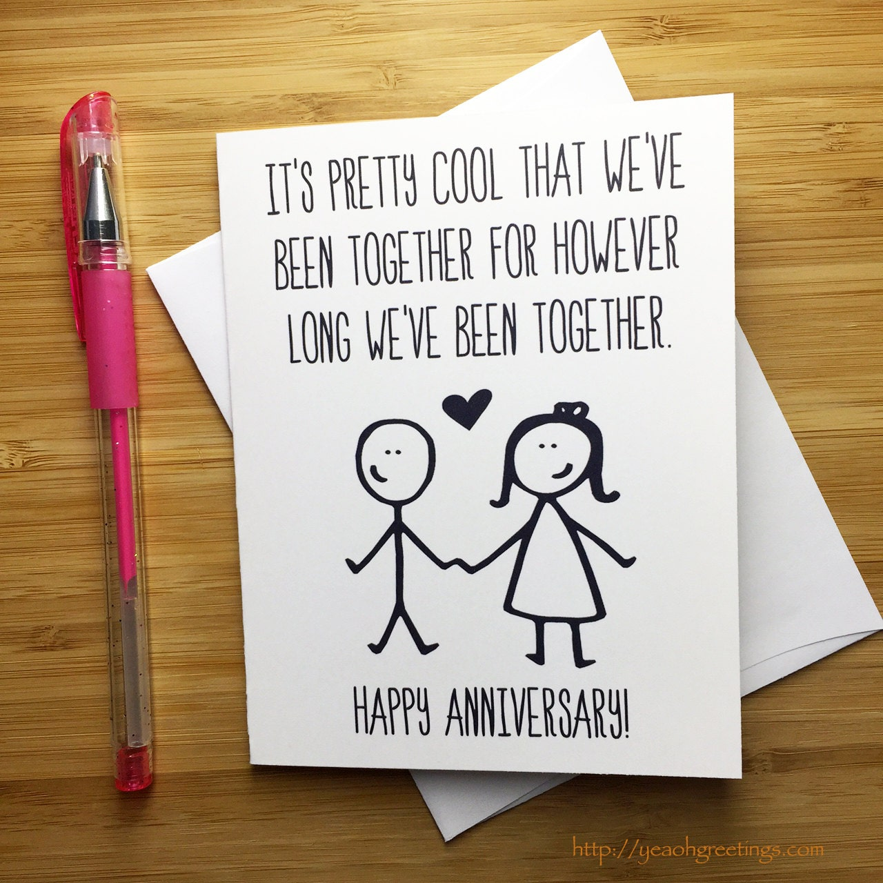 Wedding Gift List Message Funny : Funny Anniversary Card Happy Anniversary Anniversary Card