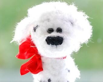 Dalmatian Dog knitted toys Softie Stuffed Dog knitted Puppy Amigurumi Dog Knit Dog Little Dog Plush dog Knitted toys knit dog amigurumi dog