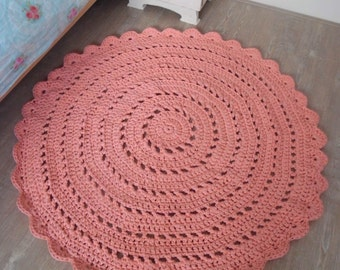 Crochet rug made to order in choice of colours