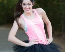 BLACK Runners tutu- Color run tutu, Custom colors, Bridesmaid tutu - Tulle Skirt, Plus Size Tutu, up to 5XL Size, Bachelorette tutu