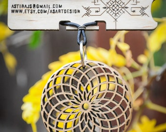 Torus Necklace - Laser Cut Maple