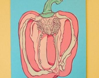 Pepper Screen Print