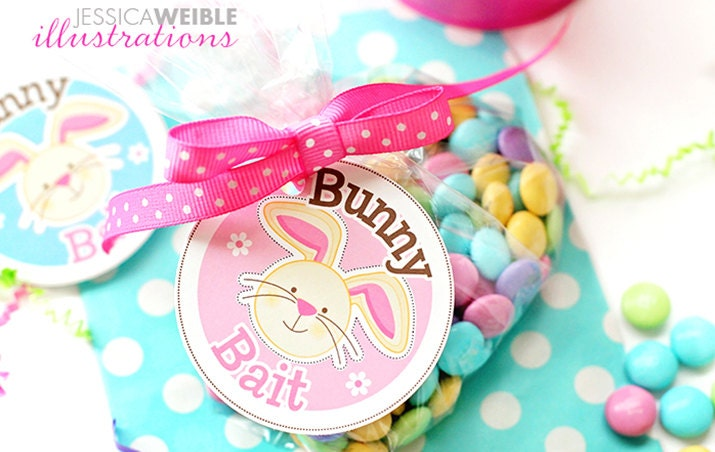 Punchy image throughout bunny bait printable