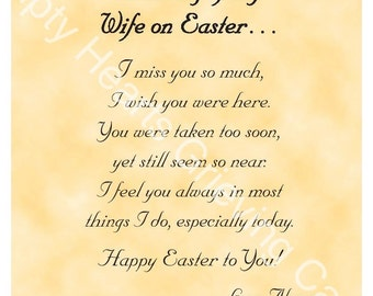 Easter Day Grieving Cards for a Wife