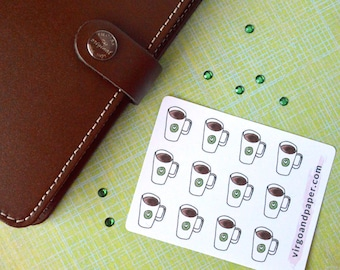 Coffee Lover Mug Hand Drawn Planner Stickers