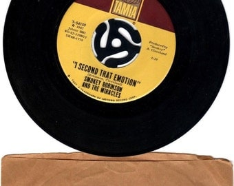 Smokey Robinson & Miracles I Second That Emotion 45 RPM TAMLA 54159 NEAR Excel. 1967