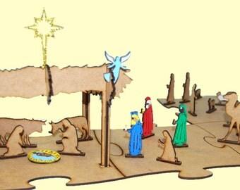 Bethlehem's Christmas 3D wood - crafts