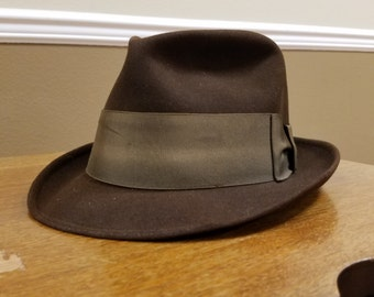 Brown felt hat by Zachary, size small