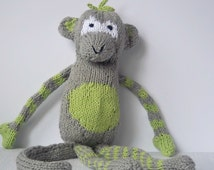 Organic Christmas Toys, Healthy Baby Toys, Custom Organic Toys, Organic Cotton, Organic Softies,  Stuffed Monkey, Organic Baby Shower