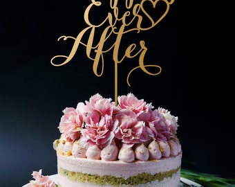 Happily Ever After Wedding Cake Topper A2046