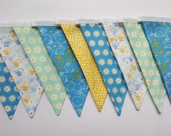 Baby Nursery Bunting with Ducks and Rabbits