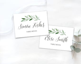 Botanical Placecard Only Digital File / Botanical Tablenumber / Gold Wedding Place Card /Wedding Sign Botanical Welcome Sign floral Greenery