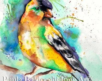 The Messenger- Print of Original Watercolor- #3 in the Spirit Animal Series