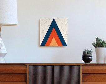 mid century modern art, geometric minimal art, modern art, triangle, arrowhead, arrow art, canvas print 70s art, retro art, Scandinavian art