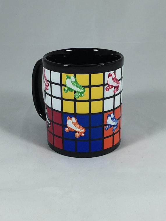 Rubik's Cube and Rollerskates Mug