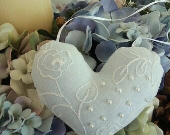 Heart Sachet,Lavender Scented Sachet,Beaded Sachet,Hanging Sachet Pillow,Embroidered Sachet,Lavender,Beaded Heart Sachet,Sachet,Heart Pillow